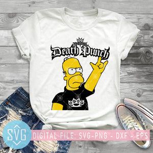 The Simpson Five Finger Death Punch SVG PNG DXF EPS