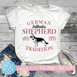 German Authentic Shepherd Superior Since Intelligence 1899 Tradition SVG, Dog SVG, Animals SVG
