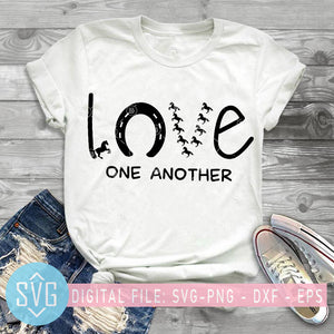 Love One Another Horse SVG, Horse Farm SVG, Horse Mom SVG
