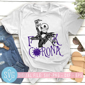 Jack Skellington Fuck Corona SVG, Jack Skellington Nightmare SVG, Coronavirus SVG