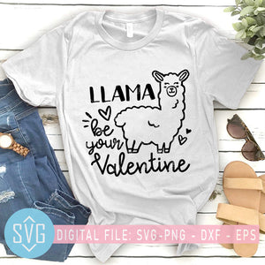 Llama Be Your Valentine SVG, Valentines SVG, Gnome SVG, Cute Valentines svg