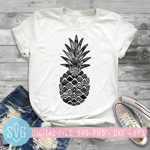 Pineapple Mandala SVG, Pineapple Zentangle SVG, Pineapple Clipart, Zentangle Svg - SVG Trends Studio | Trendy SVG for Crafters
