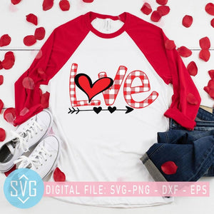 Valentine SVG, Valentines Day SVG, Buffalo Plaid Heart SVG, Leopard Love svg - SVG Trends Studio | Trendy SVG for Crafters