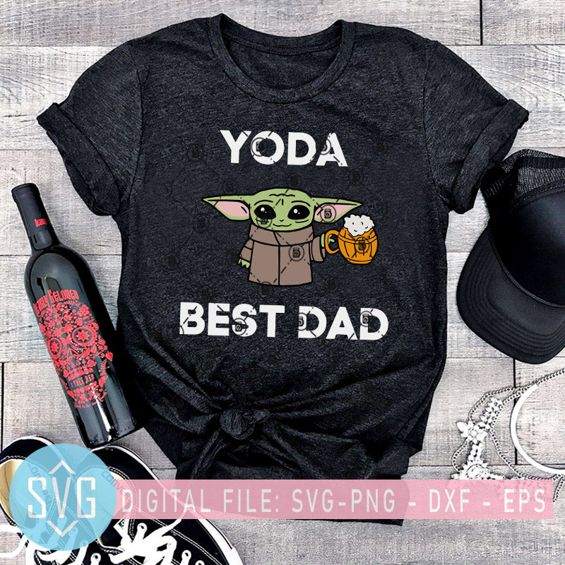 Free Yoda Best Dad Svg Father S Day Svg Baby Yoda Svg Best Yoda Beer Dad Svg Trends Studio Trendy Svg For Crafters SVG, PNG, EPS DXF File