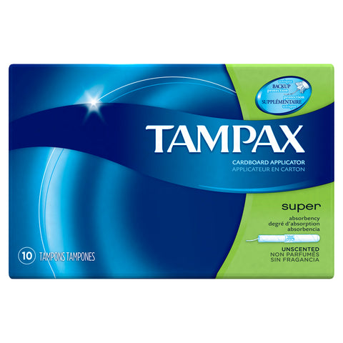 Tampax Super 10 Count Case Pack 48