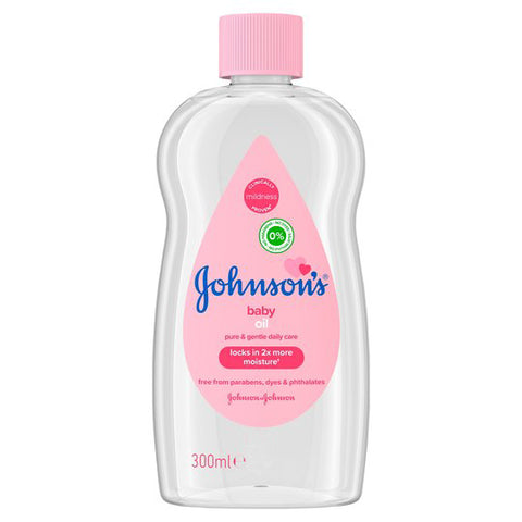 Johnson & Johnson Baby Oil Pink Classic 300 ml Case Pack 12