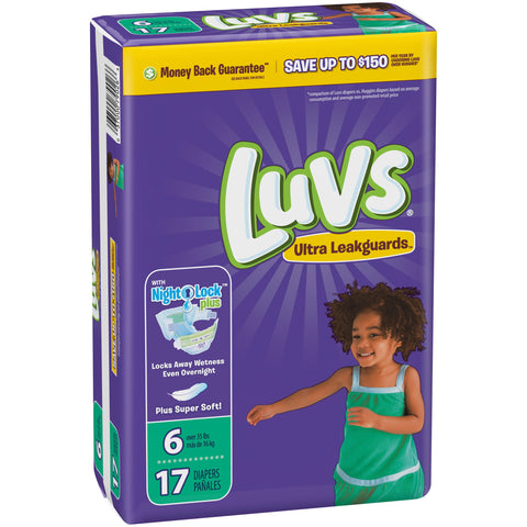 Luvs Size 6, 17 Count Case Pack 4