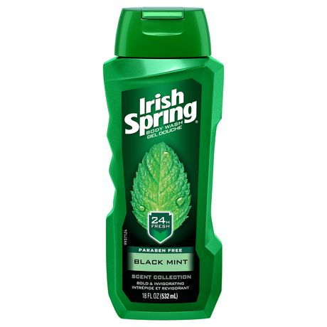 Irish Spring Black Mint 18 oz Case Pack 6