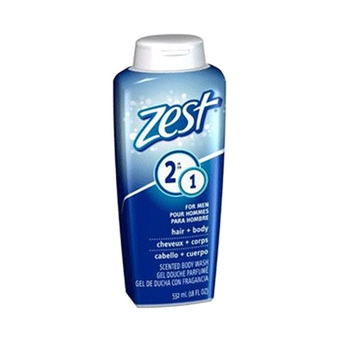 Zest Body Wash Men 2 In 1 18 oz Case Pack 6