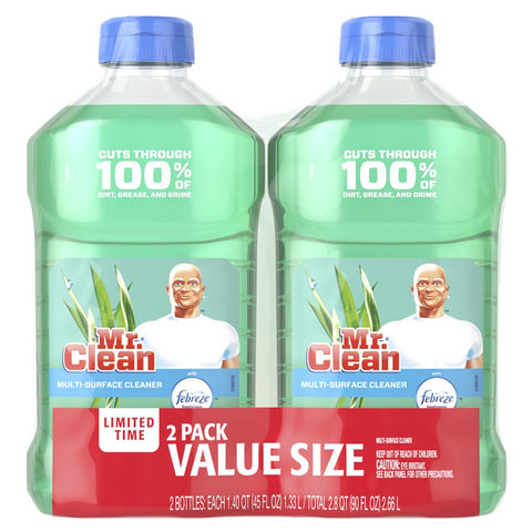 Mr. Clean 45 oz Twin Pack Meadows & Rain Case Pack 5