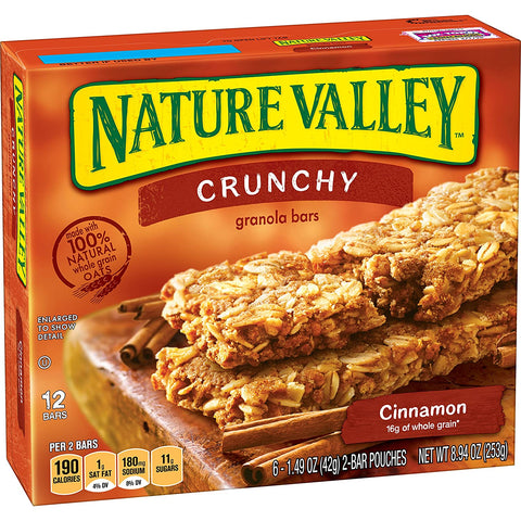 Nature Valley Crunchy Granola Bars, Cinnamon Pack Of 6