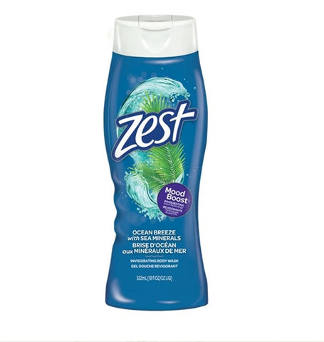 Zest Body Wash Ocean Breeze 18 oz Case Pack 6
