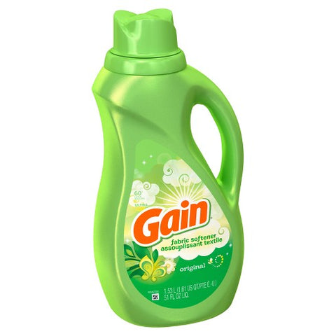 Gain Liquid Fabric Softener, Original, 51oz Case Pack 7