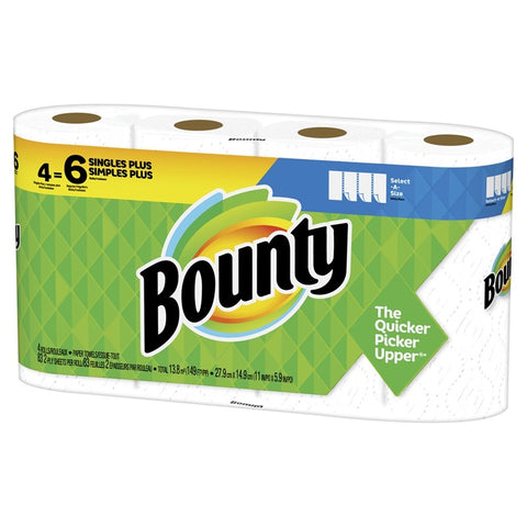 Bounty 83 Sheets 4 Rolls,  Case Pack 6
