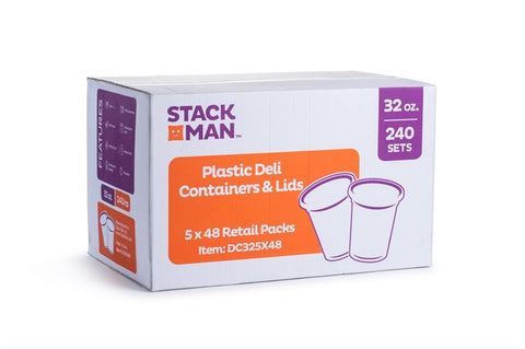 StackMan Deli Containers  32 oz. 48 Count Case Pack 5