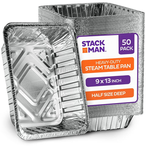 StackMan Pan Half Size Deep Heavy Case Pack 50