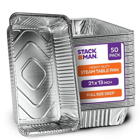 StackMan Pan Full Size Deep Case Pack 50
