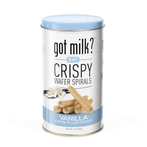 Got Milk?®Vanilla Crispy Wafer Spirals - 14 OZ  Case Pack 6