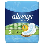 Always Maxi Unscented 16 Count Case Pack 12