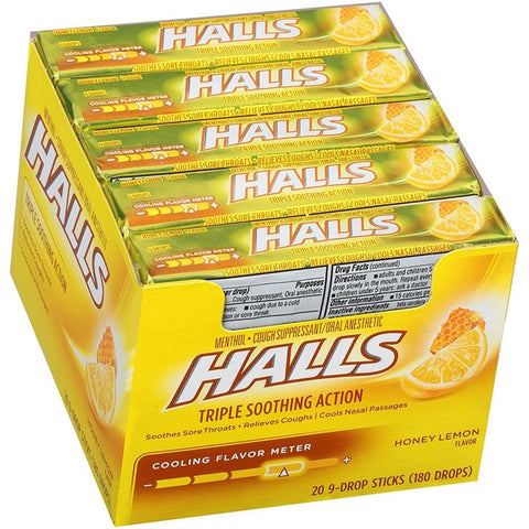Halls Honey Lemon 20 Count Case Pack 12
