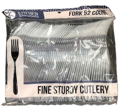 Kitchen Essentials Clear Forks 52 Count Case Pack 48