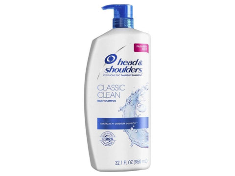 Head & Shoulders Classic Clean Shampoo 32.1oz Case Pack 4