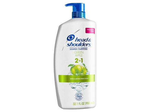 Head & Shoulders Green Apple 2 In 1  32.1oz Case Pack 4