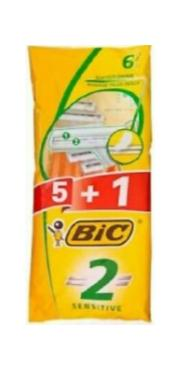 BIC Razor 6 Count Sensitive Case Pack 35