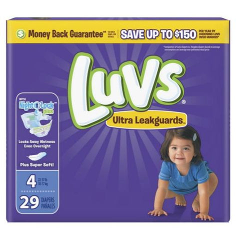 Luvs Size 4 / 29 Count Case Pack 4