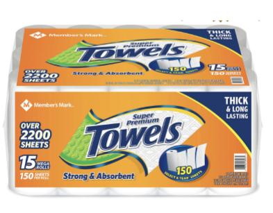 Member's Mark Paper Towels 15 Rolls