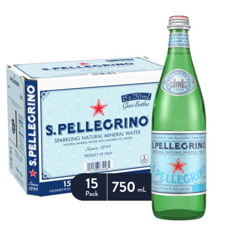 S. Pellegrino Sparkling, Glass 750ml Case Pack 15