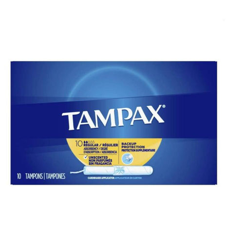 Tampax, Unscented, 10 Count Case Pack 48