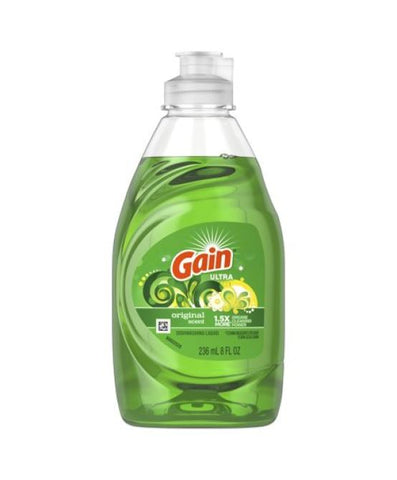 Gain  Dish Soap, Original, 8.OZ Case Pack 18