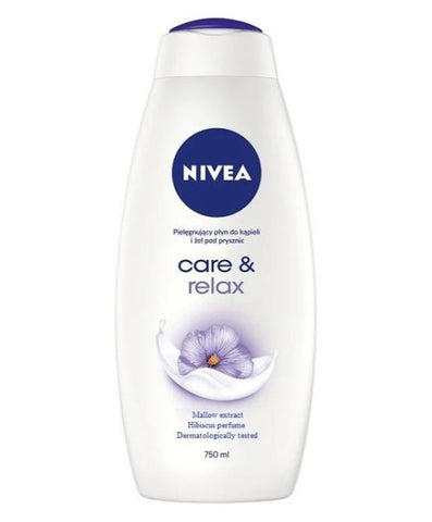 Nivea Body Wash 25.3 oz Care & Relax Case Pack 12