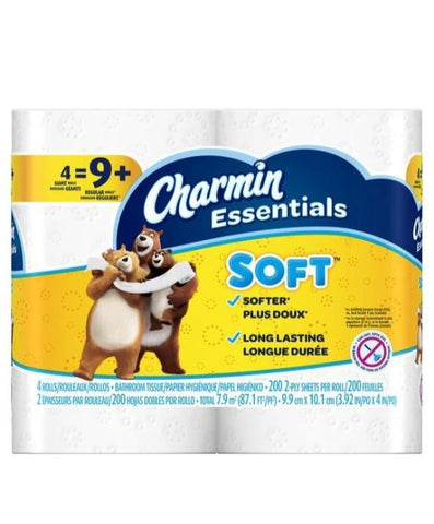Charmin 200 Count, 4 Rolls Case Pack 10
