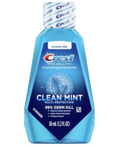 Crest Mouth Wash Clean Mint 1.2 oz Case Pack 48