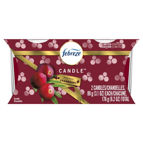 Febreze Candle Cranberry 2 Count Case Pack 4