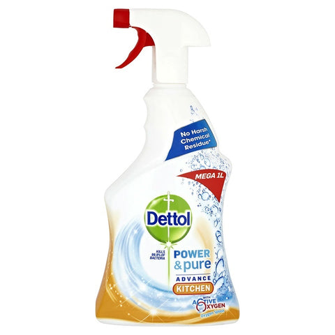 Dettol Power Advance Kitchen Spray. 25.3 Oz/750 ML. Pack of 6.