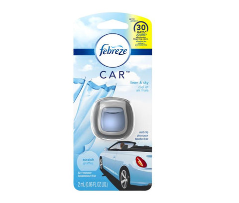 Febreze Car Linen and Sky 1 Count Case Pack 8