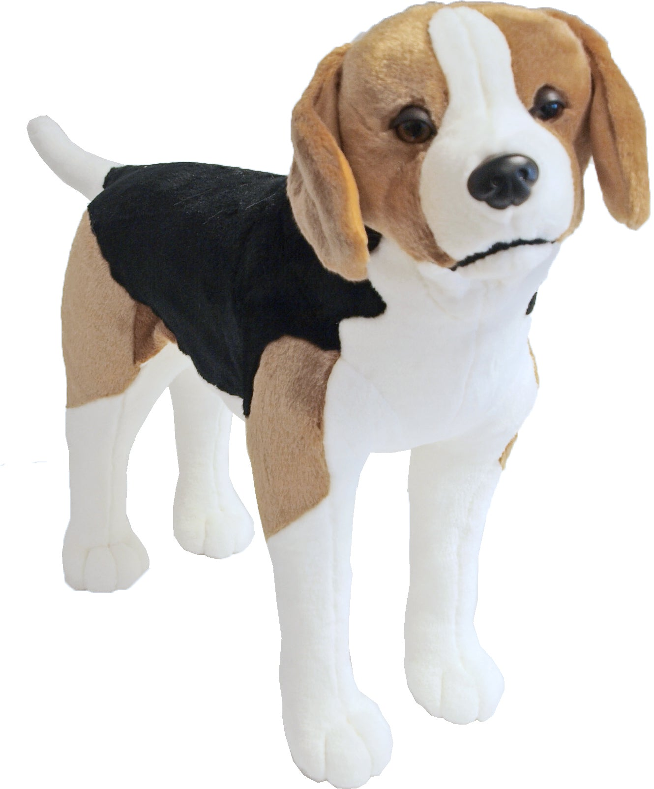 Boony Natural Decoration beagle pluche staand, 53 cm.