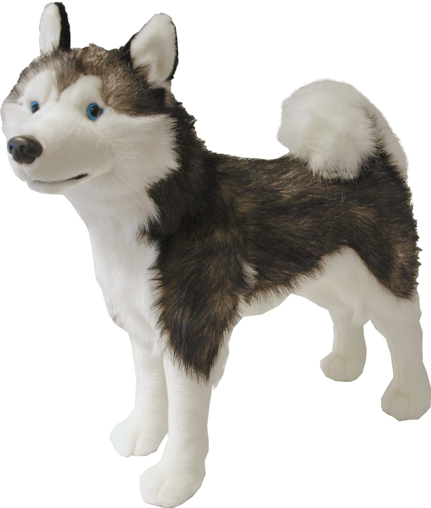 Boony Natural Decoration husky pluche staand, 53 cm.