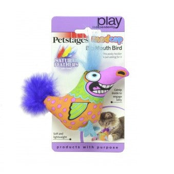 Petstages MADCAP BIG MOUTH BIRD kattenspeeltje