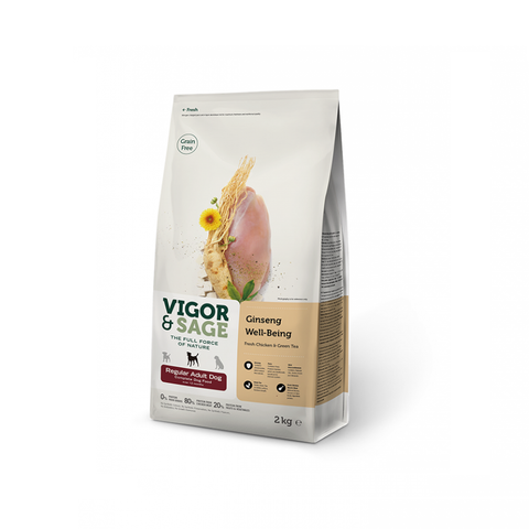 Vigor & Sage GINSENG WELL-BEING REGULAR volwassen middelgrote hondenrassen