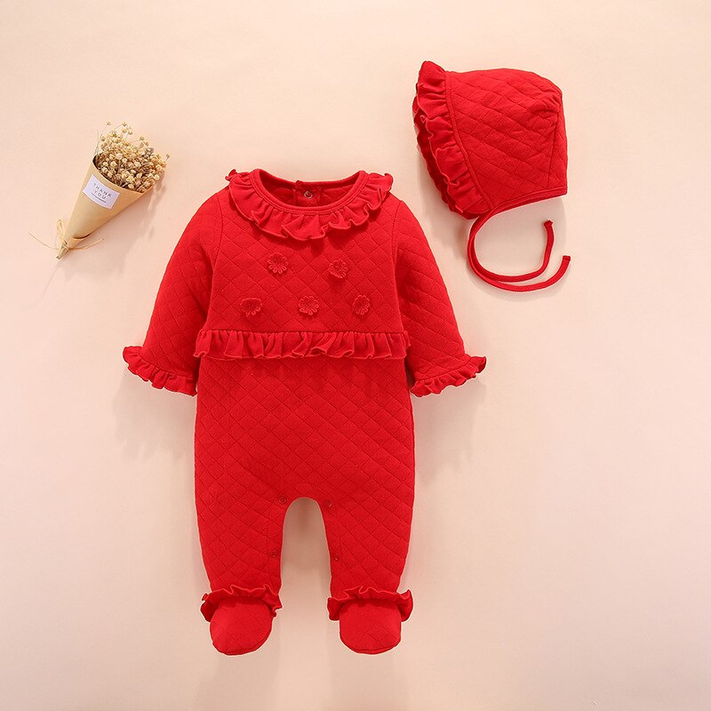 UK Autumn Winter Infant Kid Baby Girl Knitted Clothes Romper Jumpsuit Outfits