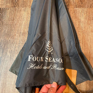 Four Seasons Hotel Umbrella Grey w/ Wood Handle and Frame (LouisJohn)
