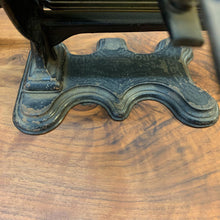 Load image into Gallery viewer, 1869 Antique Cast Iron Crown Jewel Fluting Iron