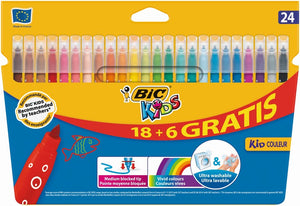 Marcadores de Colorir Kid Couleur 18+6un Bic