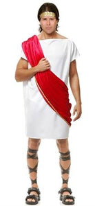 Toga Man White with Red Drape