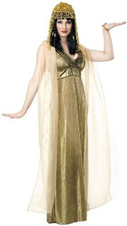 Empress of the Nile Gold Pleated Dress