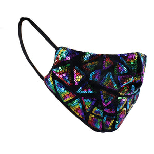 Face Mask Multi Colored Sequin